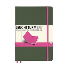 Leuchtturm1917 Hardcover Notebook Medium BiColore Army-Pink