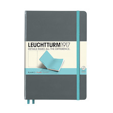Leuchtturm1917 Hardcover Notebook Medium BiColore Anthracite-Light Blue