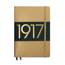 Leuchtturm1917 Hardcover Notebook Medium 1917 Metallic Edition Gold