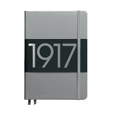 Leuchtturm1917 Hardcover Notebook Medium 1917 Metallic Edition Silver