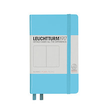 Leuchtturm1917 Hardcover Notebook Pocket Ice Blue