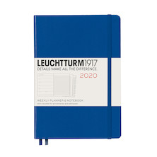 Leuchtturm1917 Diary Weekly Planner and Notebook 2020 Medium Royal Blue