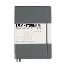 Leuchtturm1917 Diary Weekly Planner and Notebook 2020 Medium Anthracite