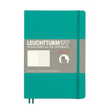 Leuchtturm1917 Diary Weekly Planner and Notebook 2020 Softcover Medium Emerald