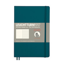 Leuchtturm1917 Diary Weekly Planner and Notebook 2020 Softcover Medium Pacific Green