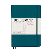 Leuchtturm1917 Diary Weekly Planner 2020 Medium Pacific Green