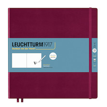 Leuchtturm1917 Sketchbook Square Port Red