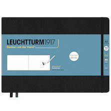 Leuchtturm1917 Sketchbook Medium Landscape Black