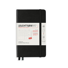 Leuchtturm1917 Academic Week Planner 2021 Pocket Black