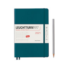 Leuchtturm1917 Daily Planner 2021 Medium Pacific Green