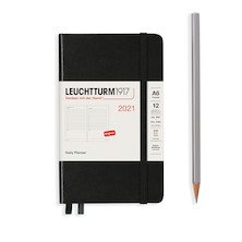 Leuchtturm1917 Daily Planner 2021 Pocket Black