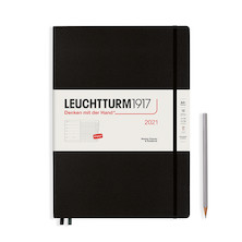 Leuchtturm1917 Weekly Planner & Notebook 2021 Hardcover Master Black