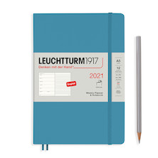 Leuchtturm1917 Weekly Planner & Notebook 2021 Softcover Medium Nordic Blue