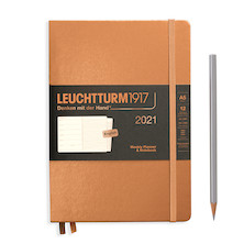 Leuchtturm1917 Weekly Planner & Notebook 2021 Hardcover Medium Copper