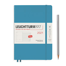 Leuchtturm1917 Weekly Planner & Notebook 2021 Hardcover Medium Denim