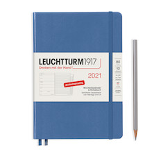 Leuchtturm1917 Weekly Planner & Notebook 2021 Hardcover Medium Nordic Blue