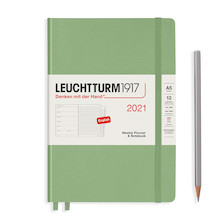 Leuchtturm1917 Weekly Planner & Notebook 2021 Hardcover Medium Sage