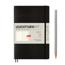 Leuchtturm1917 Weekly Planner & Notebook 2021 Softcover B6 Black
