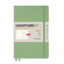 Leuchtturm1917 Weekly Planner & Notebook 2021 Softcover B6 Sage