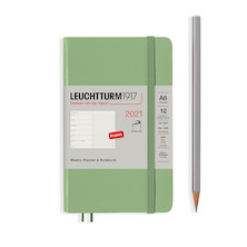 Leuchtturm1917 Weekly Planner & Notebook 2021 Softcover Pocket Sage
