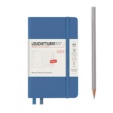 Leuchtturm1917 Weekly Planner & Notebook 2021 Hardcover Pocket Denim
