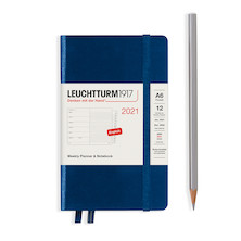Leuchtturm1917 Weekly Planner & Notebook 2021 Hardcover Pocket Navy