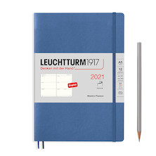 Leuchtturm1917 Weekly Planner 2021 Softcover Medium Denim