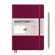Leuchtturm1917 Weekly Planner 2021 Softcover Medium Port Red
