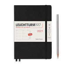 Leuchtturm1917 Weekly Planner 2021 Hardcover Medium Black