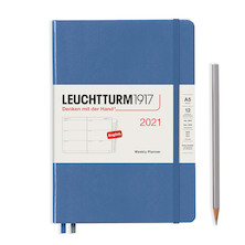 Leuchtturm1917 Weekly Planner 2021 Hardcover Medium Denim