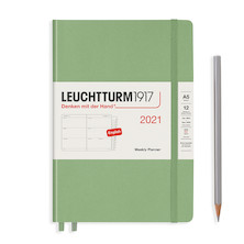 Leuchtturm1917 Weekly Planner 2021 Hardcover Medium Sage