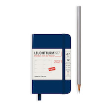 Leuchtturm1917 Weekly Planner 2021 Hardcover Mini Navy