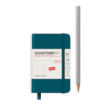 Leuchtturm1917 Weekly Planner 2021 Hardcover Mini Pacific Green