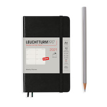 Leuchtturm1917 Weekly Planner 2021 Softcover Pocket Black