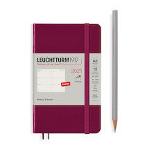 Leuchtturm1917 Weekly Planner 2021 Softcover Pocket Port Red