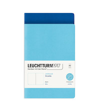 Leuchtturm1917 Jottbook Double Medium Ice Blue & Royal Blue