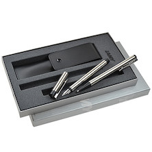 Lamy logo Steel Fountain Pen and Ballpoint Pen Gift Set
