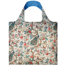 LOQI Shopping Bag Wall Hanging with Peacocks and Peonies