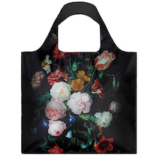 LOQI Shopping Bag Still Life with Flowers in a Glass Vase - de Heem
