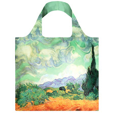 LOQI Shopping Bag A Wheat Field with Cypresses - Van Gogh
