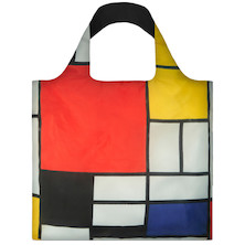 LOQI Shopping Bag Composition with Red, Yellow, Blue and Black - Mondrian