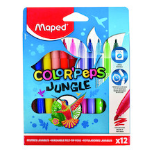 Maped Color'Peps Jungle Felt-Tip Pen Set of 12