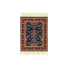 CoasterRug Set of 4 Deep Blue Bergamo