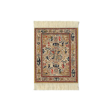 CoasterRug Set of 4 Dusty Gold Ancient Oriental