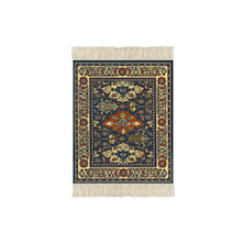 CoasterRug Set of 4 Kuba Oriental