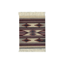 CoasterRug Set of 4 Earthtone Southwest
