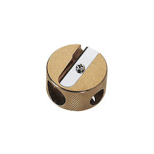 M+R Double Hole Round Brass Sharpener