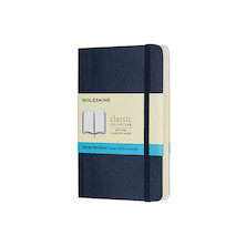 Moleskine Soft Cover Pocket Notebook 90x140 Sapphire Blue