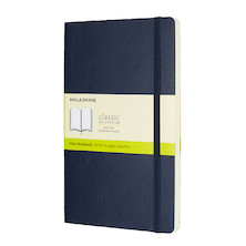 Moleskine Soft Cover Large Notebook 135x210 Sapphire Blue