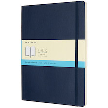 Moleskine Soft Cover Extra Large Notebook 190x250 Sapphire Blue